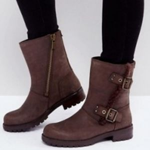 New Ugg Niels Brown Suede Boots 8